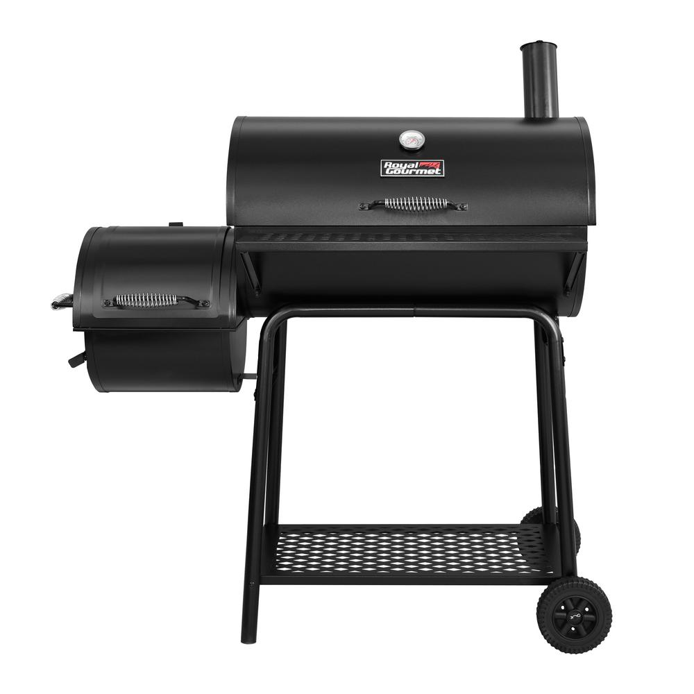 Royal Gourmet 30 in. Charcoal Grill with Offset Smoker