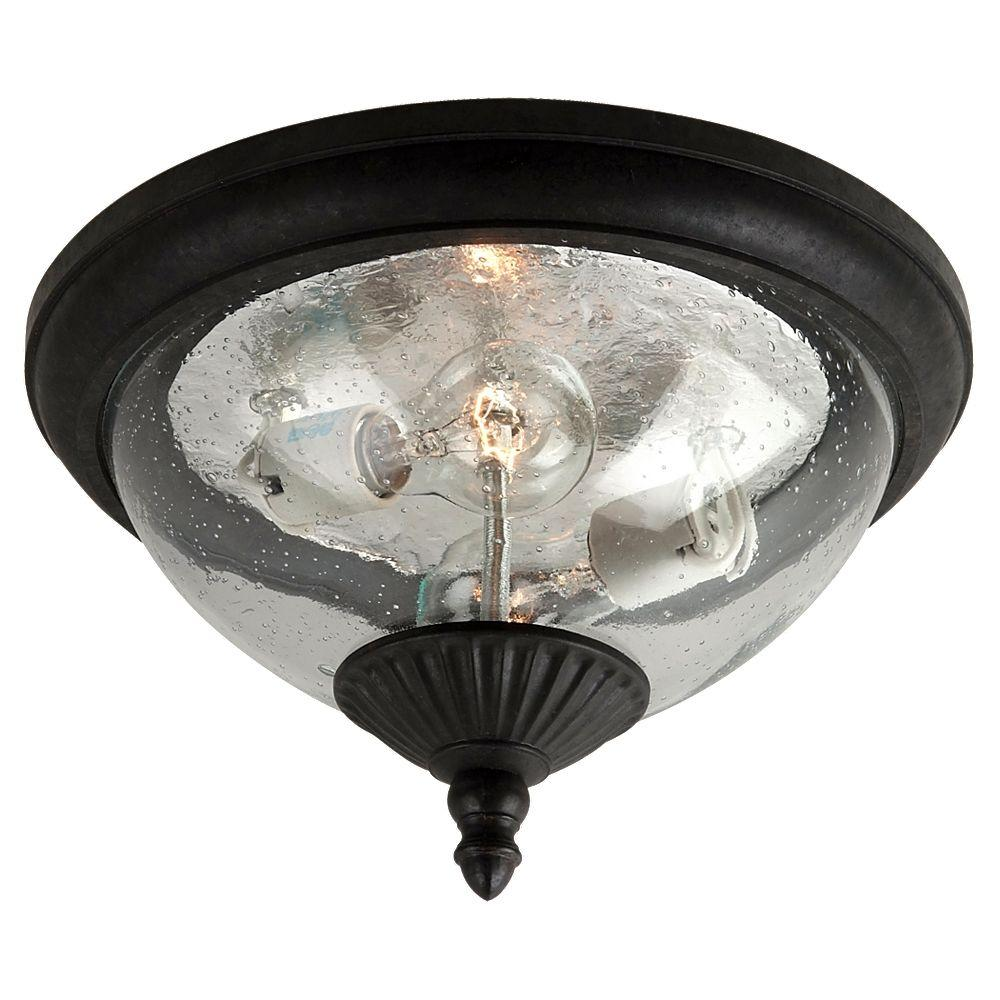 Sea Gull Lighting 2-Light Oxford Bronze Outdoor Ceiling
