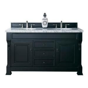 James Martin Signature Vanities Brookfield 60 inch W Double Vanity in Antique Black with Marble Vanity Top in Carrara... by James Martin Signature Vanities