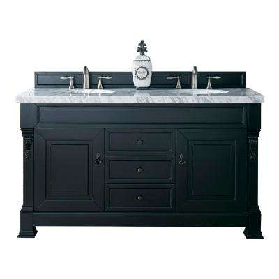 Delicieux Brookfield 60 In. W Double Vanity In Antique Black With Marble Vanity Top  In Carrara