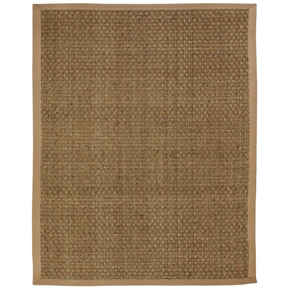 Anji Mountain Moray Tan Basketweave 10 ft. x 14 ft. Area Rug
