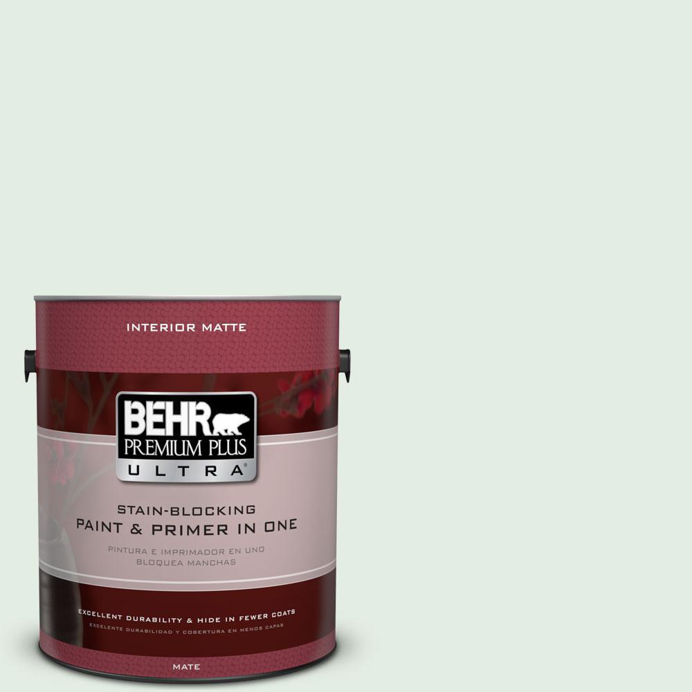 BEHR Premium Plus Ultra 1 gal. #460C-2 Spearmint Stick Flat/Matte Interior Paint
