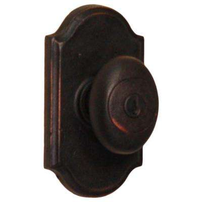 Molten Bronze Oil-Rubbed Bronze Premiere Keyed Entry Durham Knob