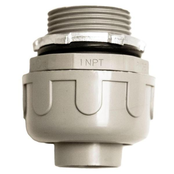 1 in. Liquidtight NM Straight PVC Conduit Fitting Connector (10-Pack)