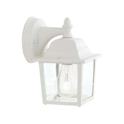Hawthorne 1-Light Matte White Outdoor Wall Mount Lantern