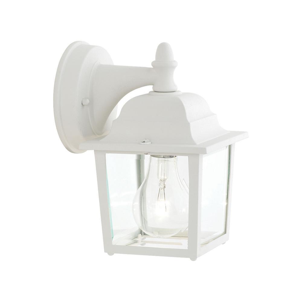 Thomas Lighting Hawthorne 1 Light Matte White Outdoor Wall Lantern Sconce