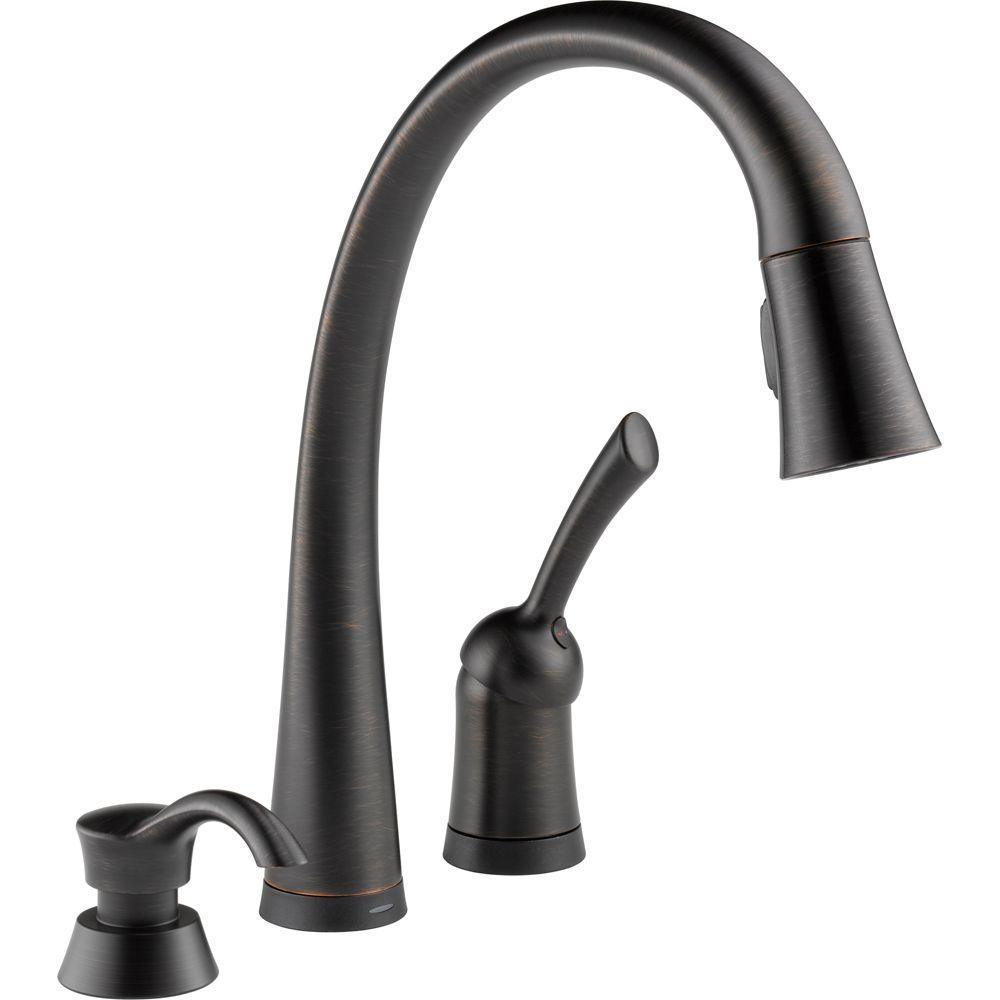 Delta Kitchen Faucet Bronze: Delta Pilar Single-Handle Pull-Down Sprayer Kitchen Faucet