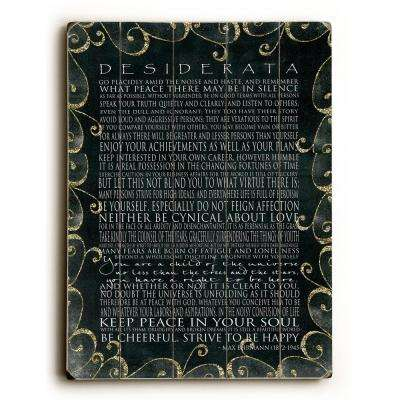 "14 in. x 20 in. ""Desiderata"" by Terry Kempfert ""Planked Wood"" Wall Art"