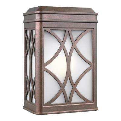 Melito 1-Light Weathered Copper Outdoor Wall Mount Lantern
