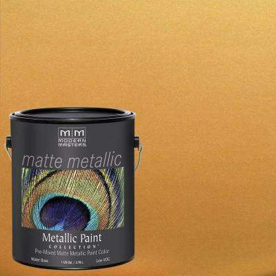 1 gal. Olympic Gold Water-Based Matte Metallic Interior Paint