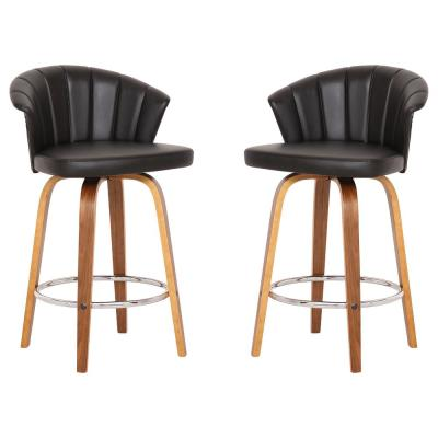 Caroline 26 in. Black Barstool (Set of 2)