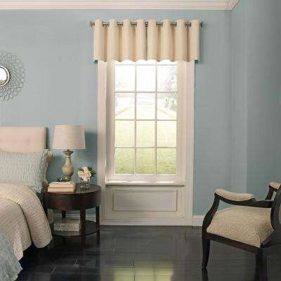 Malbrouk Polyester Valance in Ivory - 52 in. W x 18 in. L