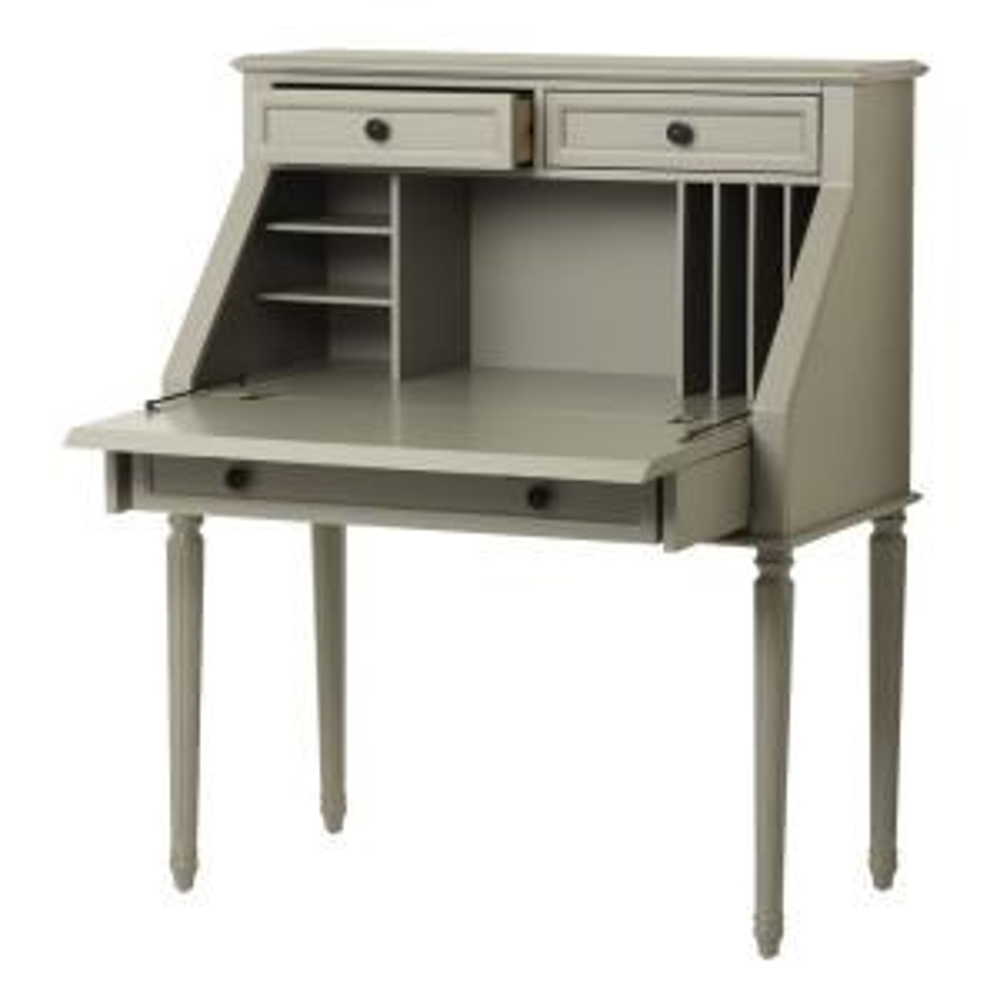 High Quality Internet #301133220. Martha Stewart Living Ingrid Rubbed Gray Desk