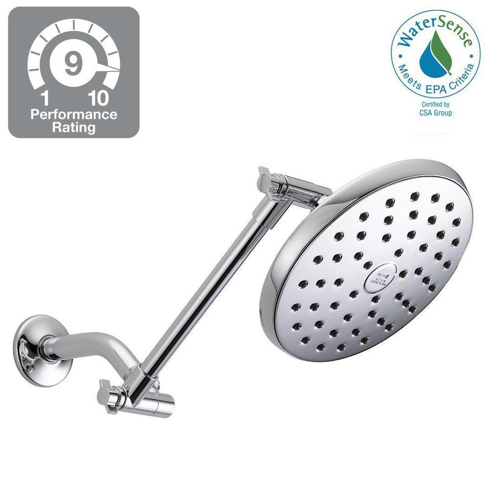 1-Spray 7.5 in. Raincan Shower Head in Chrome