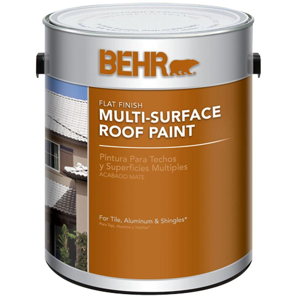 BEHR 1-gal. White Reflective Flat Multi-Surface Roof Paint-06501 ...