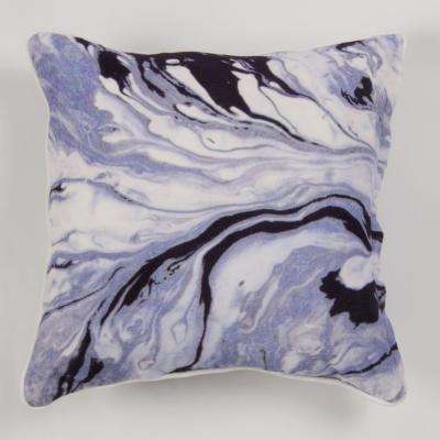 New York Gallery Art by Anu Abstract Marble Pillow
