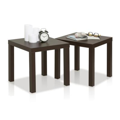 Classic Espresso End Table (Set of 2)