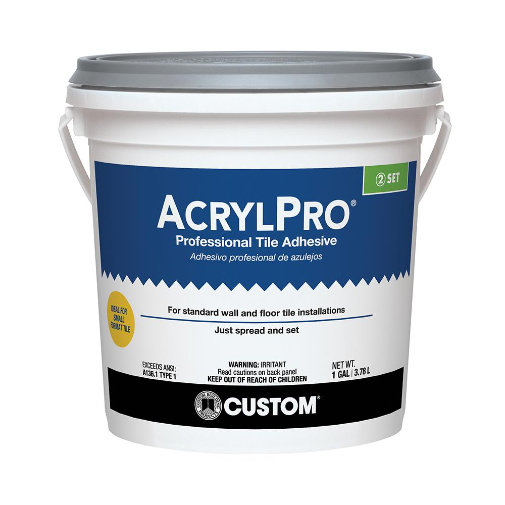 custom building products acrylpro 1 gal ceramic tile adhesive