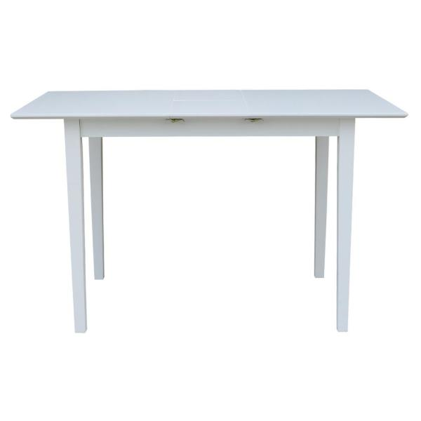 International Concepts Pure White Extendable Counter Height Table