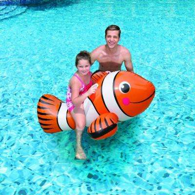 Clown Fish 67 in. Inflatable Ride-On Pool Toy