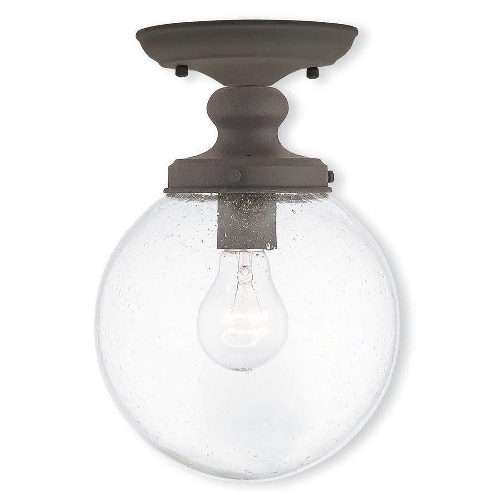 Northampton 1-Light Bronze Flushmount