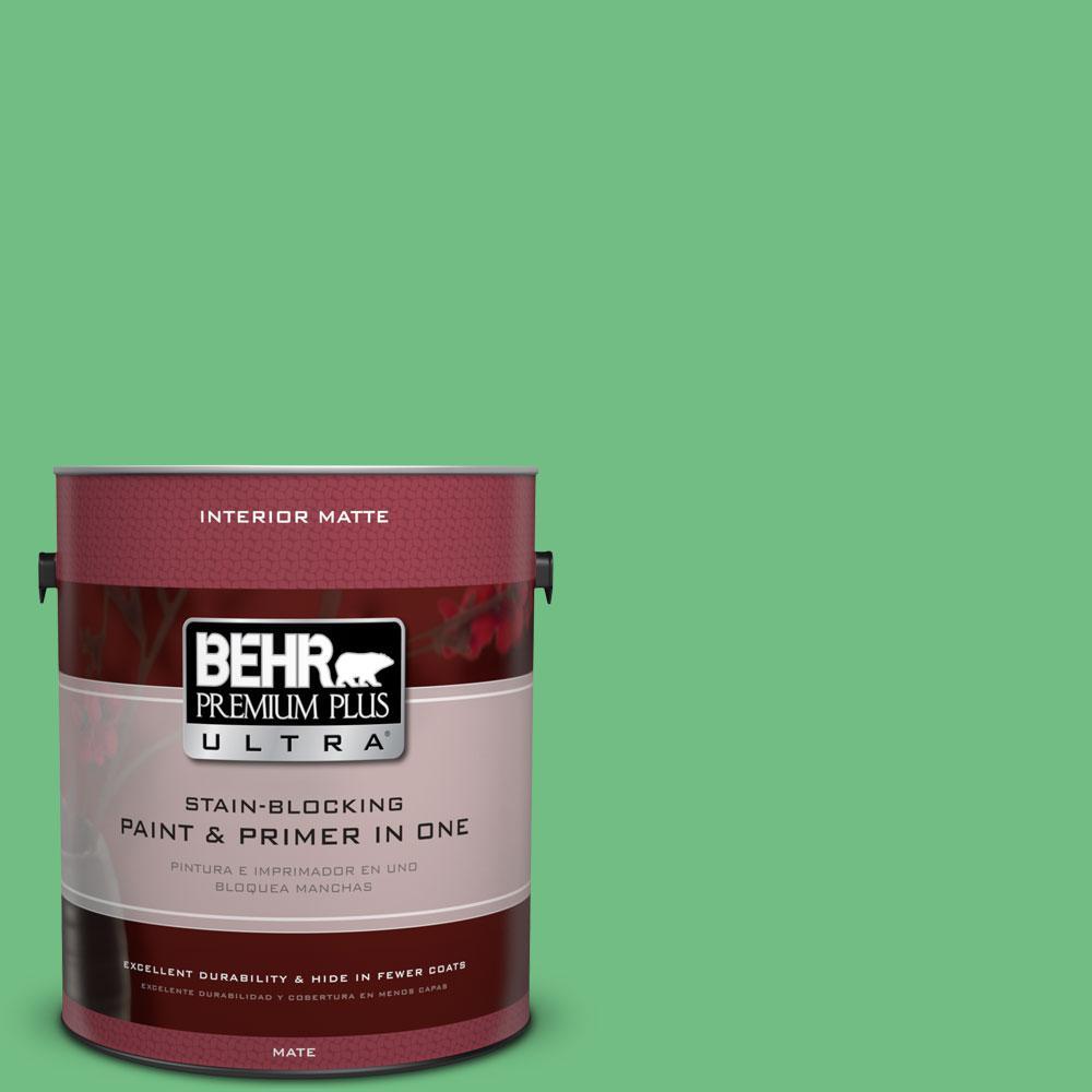 1 gal. #P400-5 Winter Shamrock Matte Interior Paint