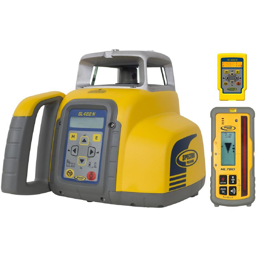 Spectra Precision Rotary Laser Level with HL760 Laser Receiver Self-Leveling Horizontal and Vertical Dual Grade