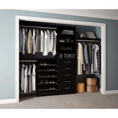 Assembled Reach-In 15 in. D x 120 in. W x 84 in. H Calabria in a Twilight Melamine 11-Shelves Closet System