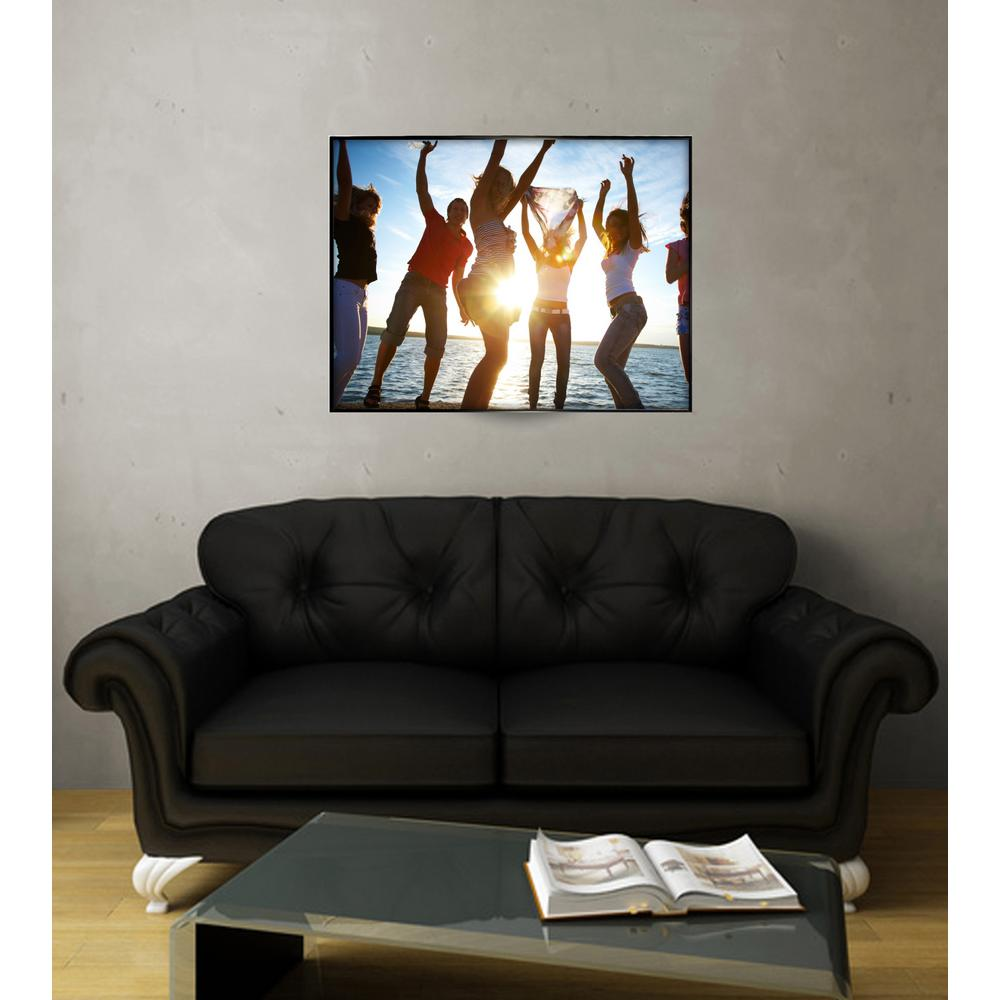 Kiera Grace Uptown Matte Black Aluminum 18 in. x 24 in. Poster Frame ...