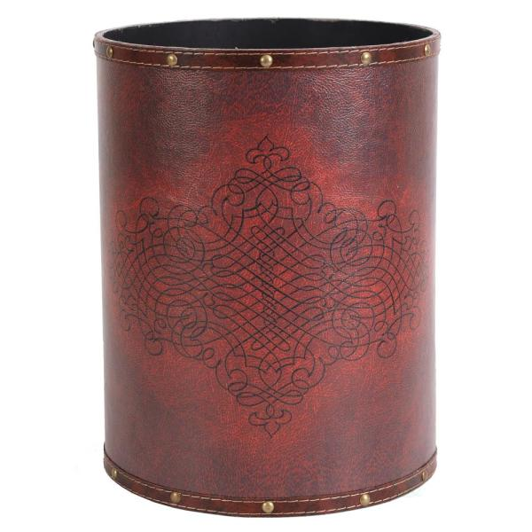 10 in. x 10 in. x 13 in. High Faux Leather