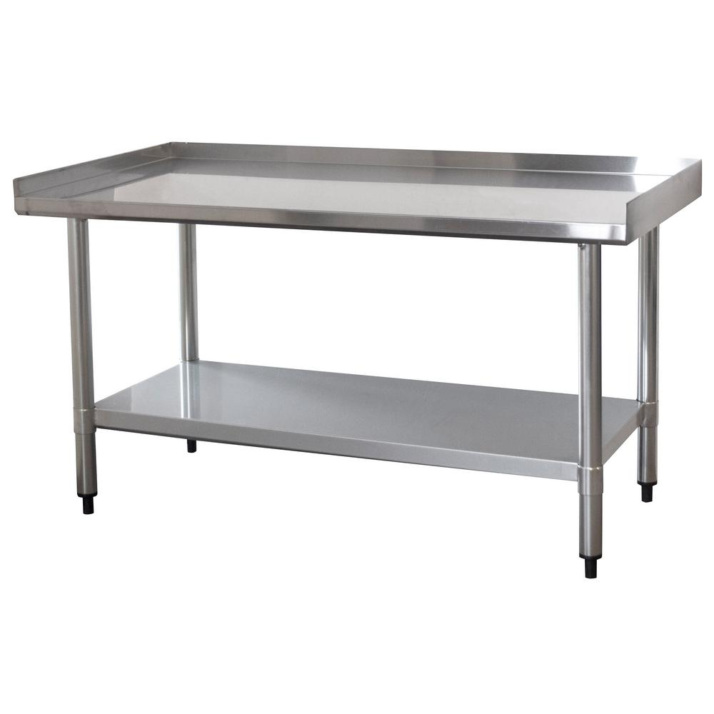 Sportsman 4 ft. x 2 ft. Stainless Steel Worktable with Upturned Edge ...