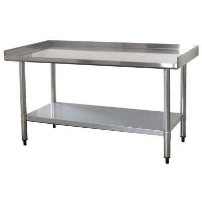 4 ft. x 2 ft. Stainless Steel Worktable with Upturned Edge