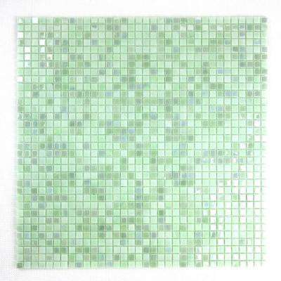 Constellation Green 11.7 in. x 11.7 in. x 3.20 mm Glass Mosaic Tile
