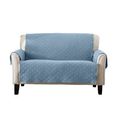 Laurina Collection Delphium Blue Stonewashed Reversible Loveseat Furniture  Protector