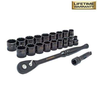 3/8 in. Drive 100-Position Universal SAE and Metric Socket Wrench Set (20-Piece)