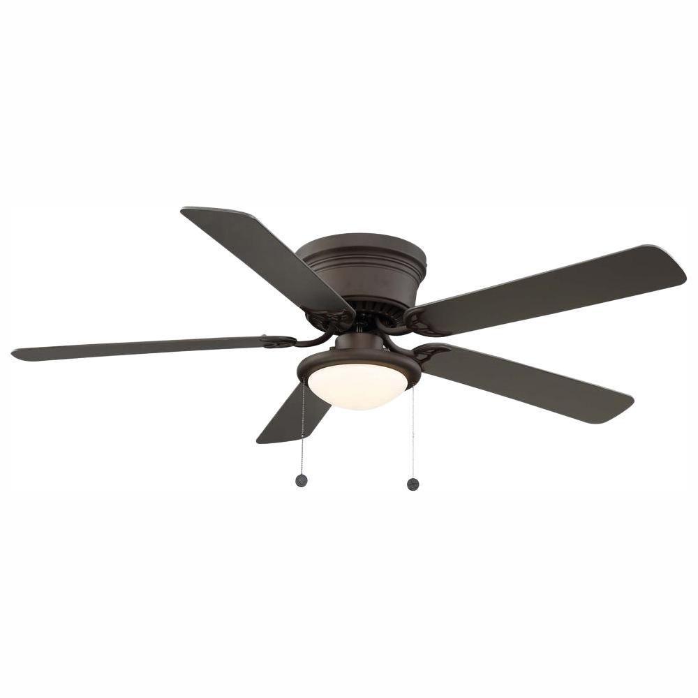 Hugger 56 in. LED Espresso Bronze Ceiling Fan