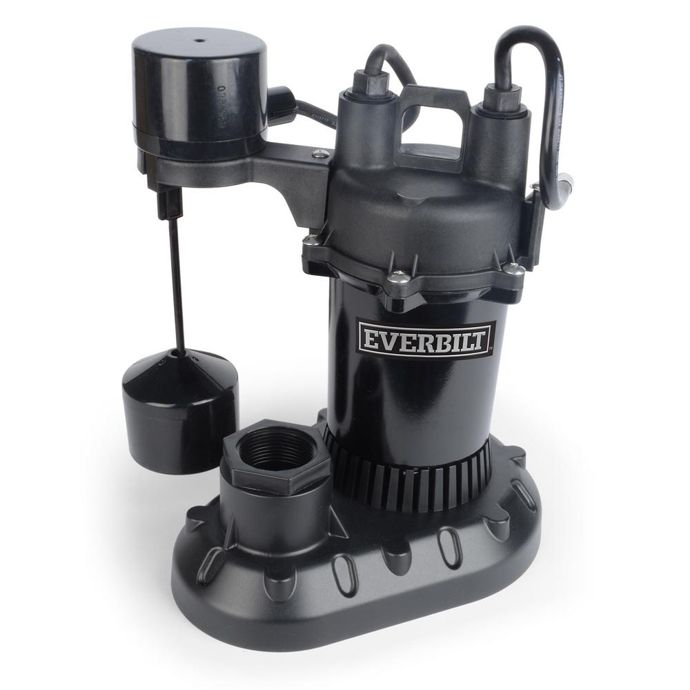 Everbilt 1/2 HP Submersible Aluminum Sump Pump with Vertical Switch
