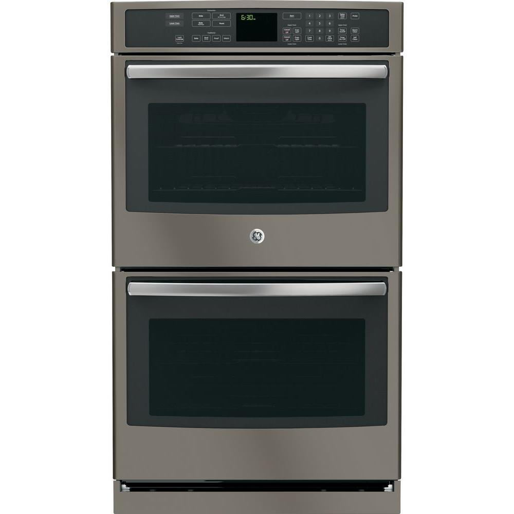 GE Profile 30 In. Double Electric Wall Oven Self Cleaning With Convection  Oven In