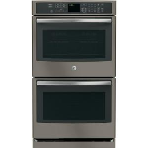 Click here to buy GE Profile 30 inch Double Electric Wall Oven Self-Cleaning with Convection Oven in Slate by GE Profile.