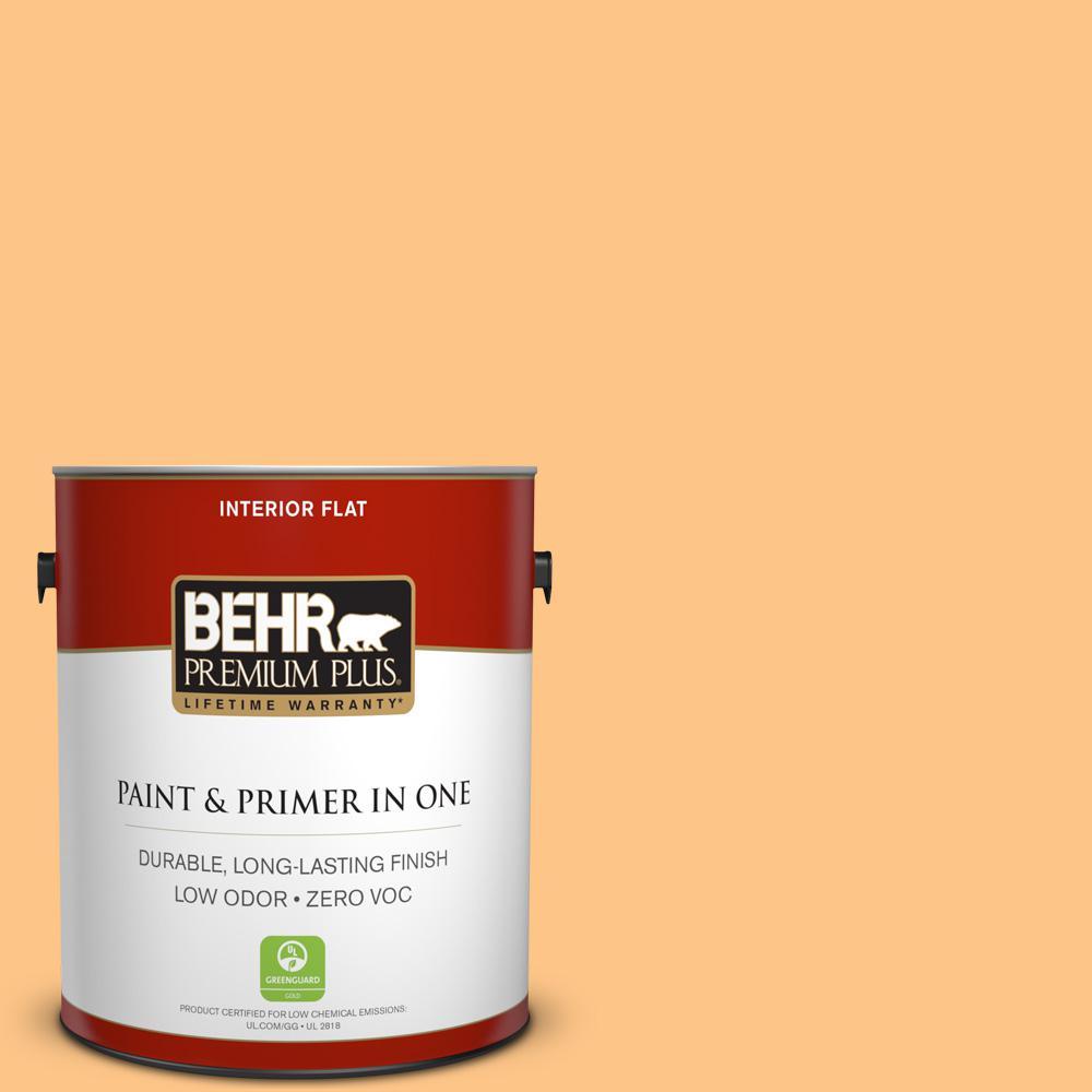 BEHR Premium Plus 1-gal. #P240-4 Mango Tango Flat Interior Paint
