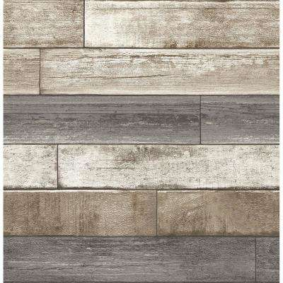 Grey Weathered Plank Wood Texture Wallpaper