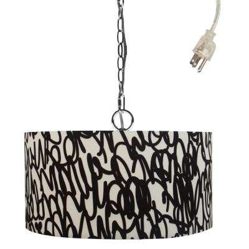 Kris Ruff 1-Light Brooklyn Black Pendant