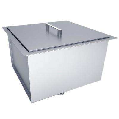 Over/Under 20 in. x 12 in. Height Single Basin Sink with Cover