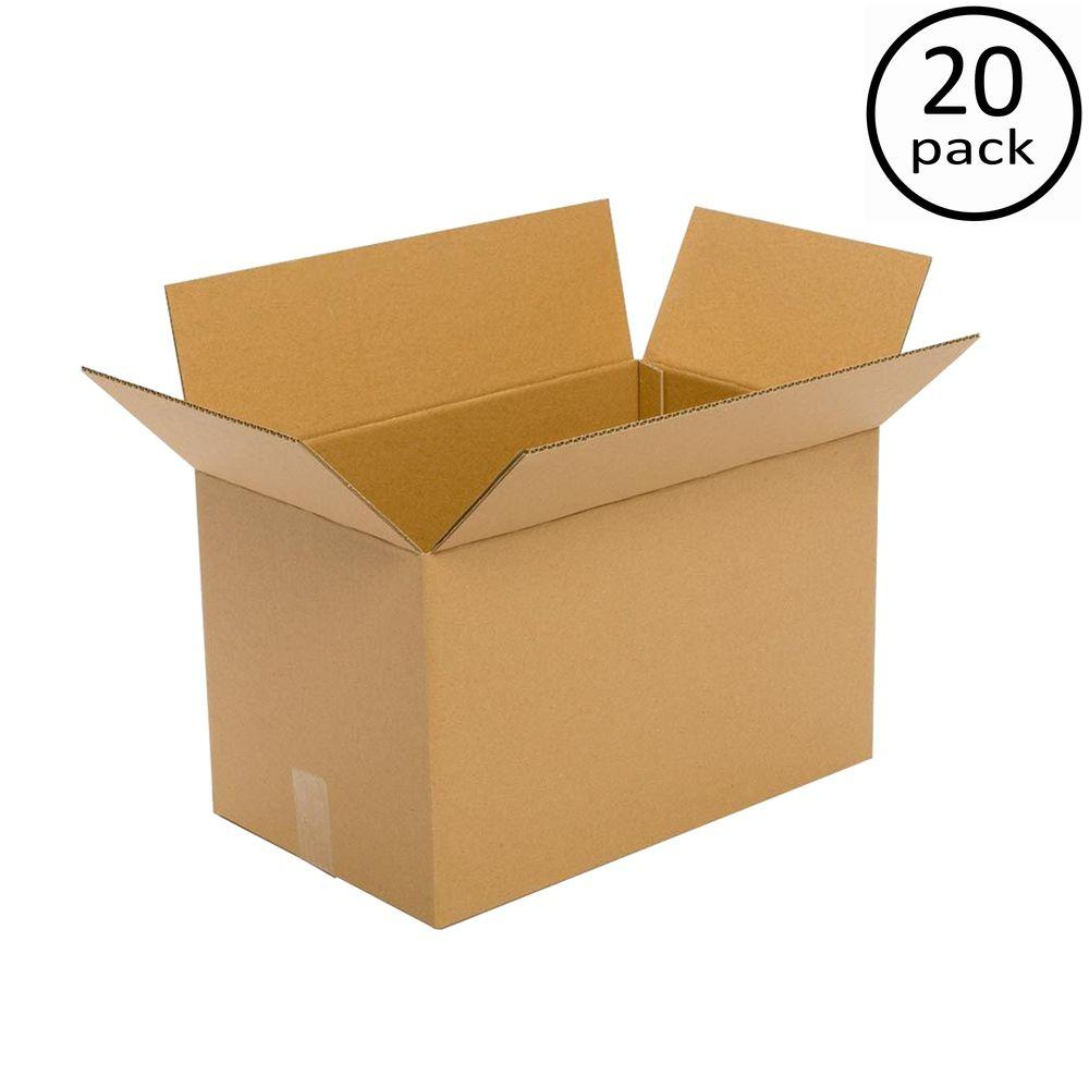 Plain Brown Box 20 in. x 15 in. x 15 in. 20 Moving Box Bundle