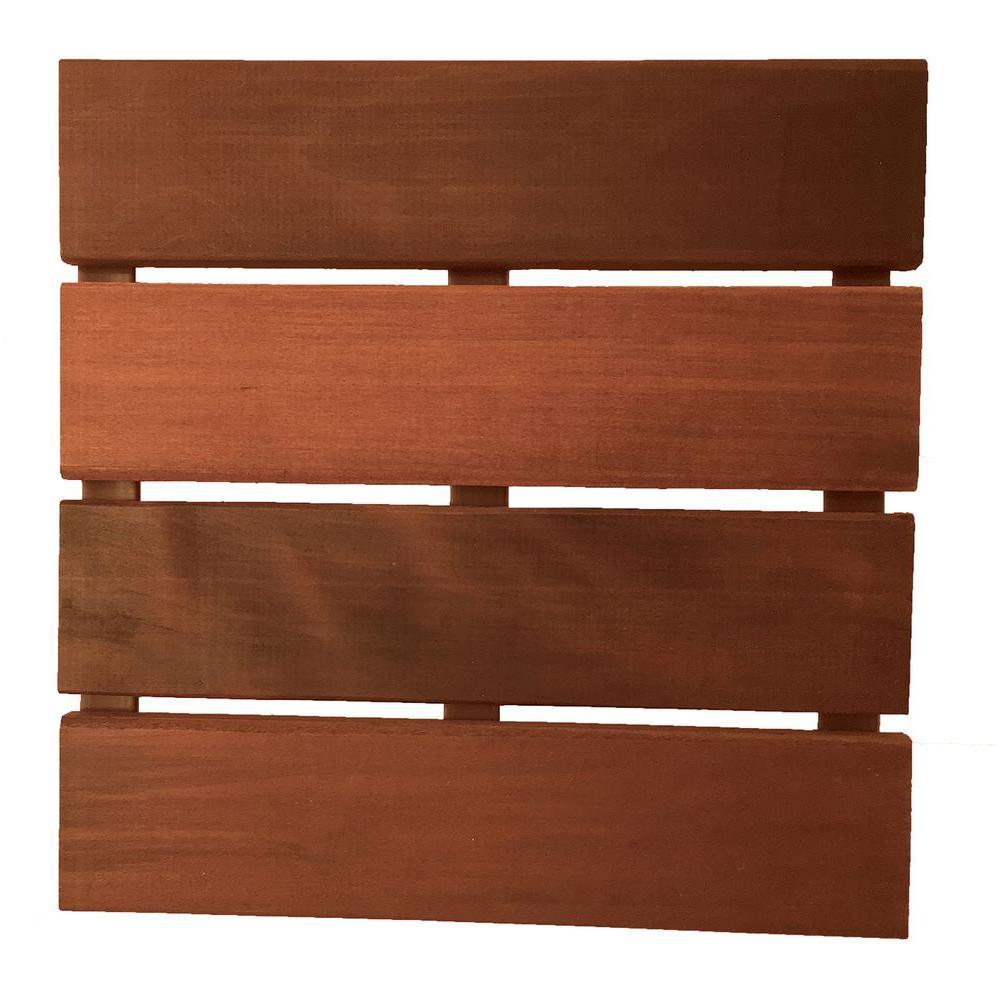 Deckwise Wisetile 2 Ft X 2 Ft Solid Hardwood Deck Tile