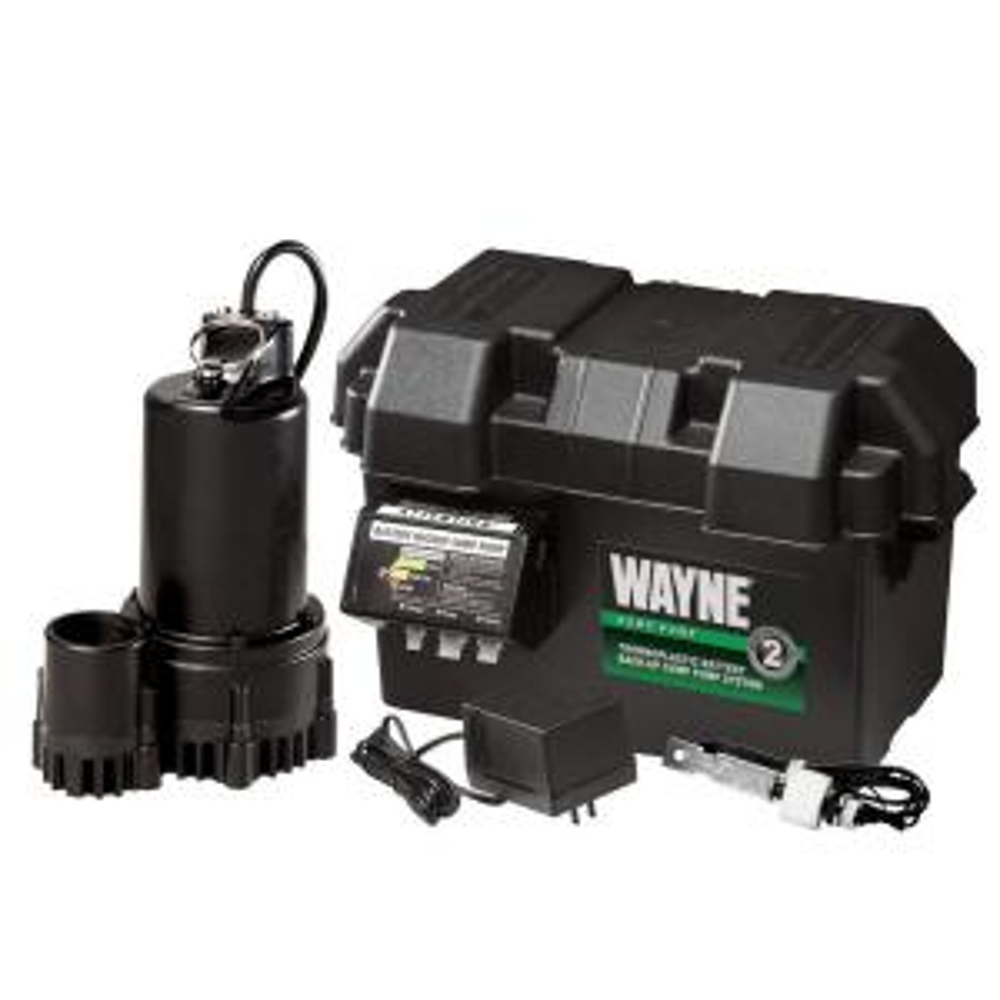 Wayne 1 3 Hp 12 Volt Battery Backup Sump Pump System