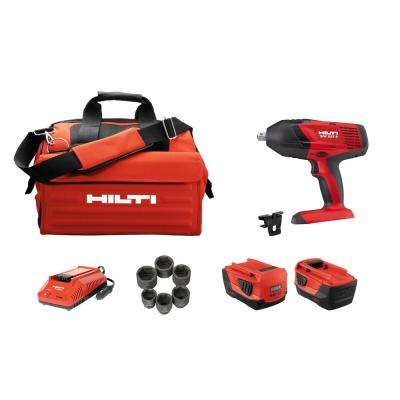 SIW 22T 22-Volt 1/2 in. Cordless Advanced Compact Li-Ion High-Torque Impact Wrench Kit with Charger, Bag and Sockets
