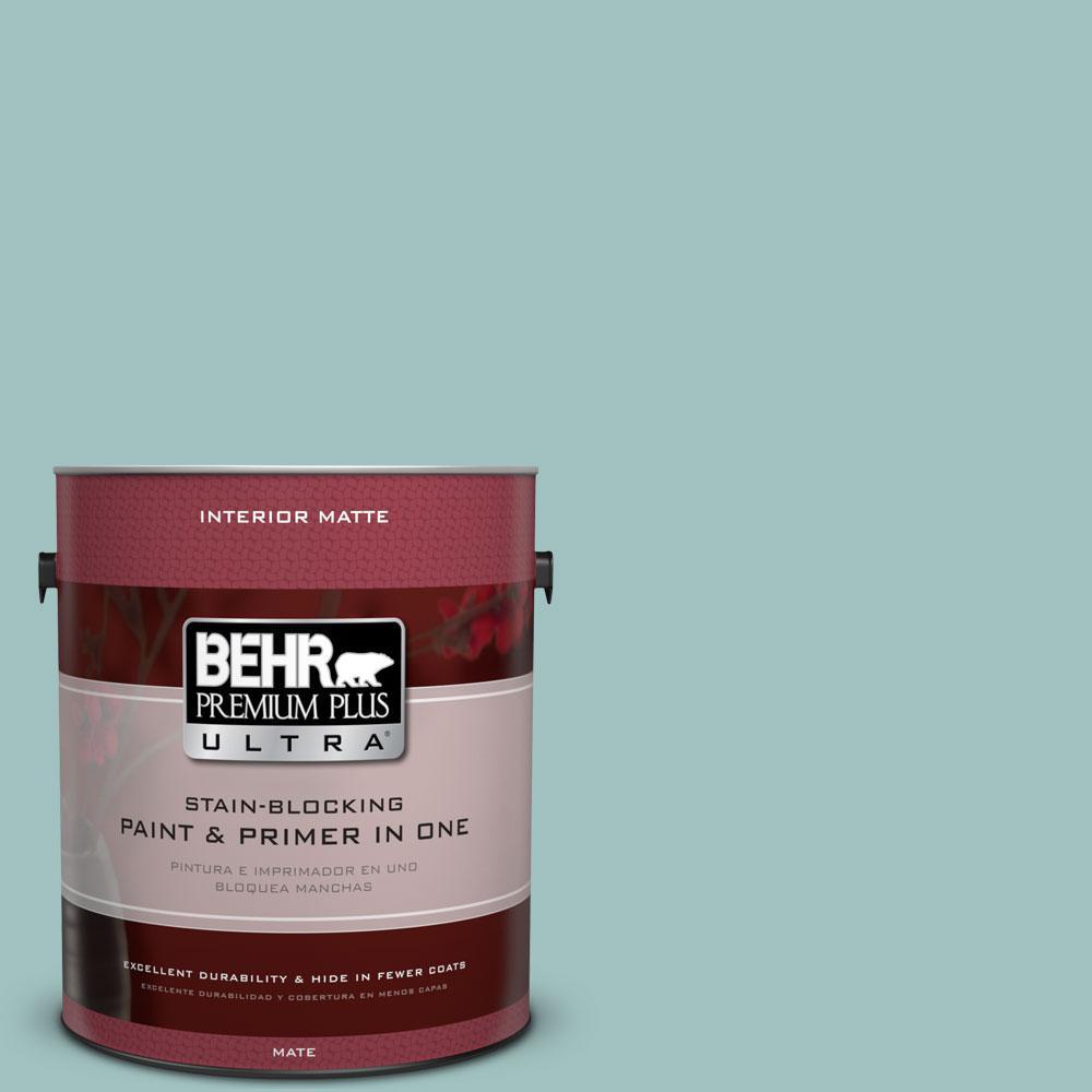 BEHR Premium Plus Ultra 1 gal. #S440-3 Aspiring Blue Matte Interior Paint