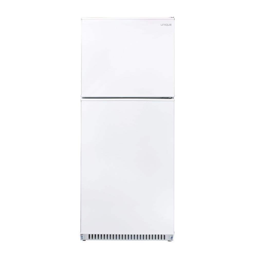 Unique 16.6 cu. ft. 470 L Solar DC Top Freezer Refrigerator Danfoss/Secop Compressor in White