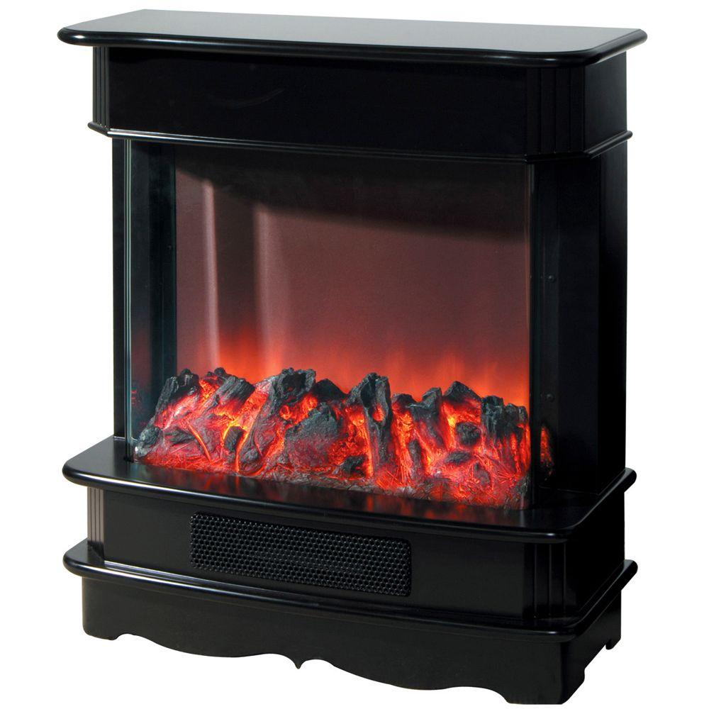 Yosemite Home Decor 27 in. Electric Fireplace in Black